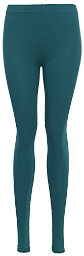 Damen High Waist Leggings - Damen Plaid Skinny Casual Work Leggings - Ultra Stretch Comfy Skinny - Super Soft Full Length Gr. 24-26, blaugrün