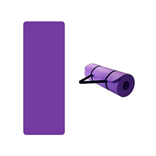 CREACEC Komfort Gymnastikmatte,Yogamatte Hautfreundliche Fitnessmatte in 185X60X0.4CM Mit Tragegurt Phtalatfrei Sportmatte Für Yoga Pilates Und Bodenübung,Lila