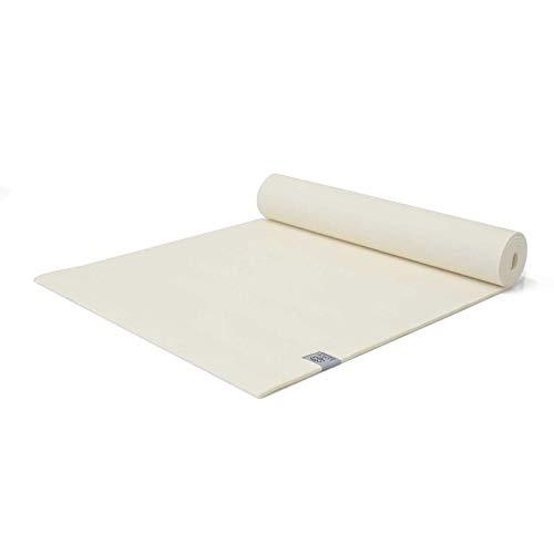 Love Generation Yogamatte 6mm extra gepolstert| Strapazierfähiges und leicht zu reinigenes PVC | 183 x 61 x 6 mm Matte | Für Yoga Pilates und Fitness (Cremeweiß)