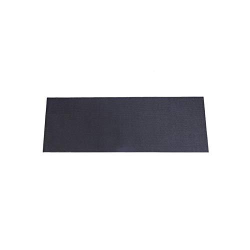 Fitnessgerät Matte für Teppich Schwarze rutschfeste Home Thick Workout Mats Für Laufbänder Rudergeräte Liegeräder und Trainingsgeräte (59 x 29,5 Zoll)