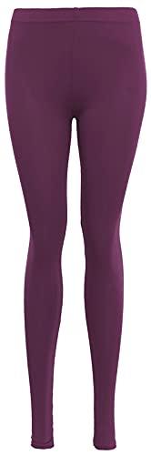 Damen High Waist Leggings - Damen Plaid Skinny Casual Work Leggings - Ultra Stretch Comfy Skinny - Super Soft Full Length Gr. 24-26, violett