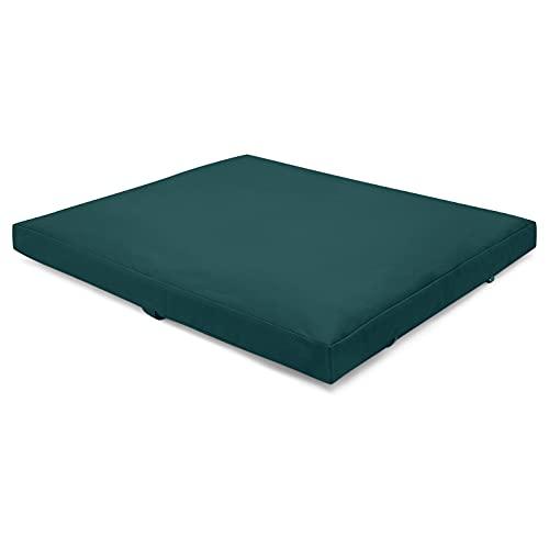 Present Mind Meditationsmatte Zabuton (Farbe: Smaragdgrün) l Matte Meditation Faltbar (70 x 82 x 6-8 cm) l...
