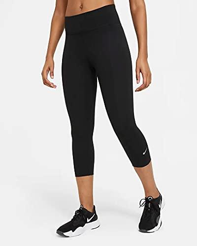 Nike Damen One Leggings, Black/White, M