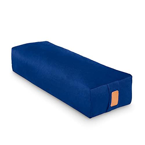 #DoYourYoga Yogabolster »Paravati« mit Bio-Dinkelspelz (KBA), waschbarer Bezug aus 100% Baumwolle, 67cm x...