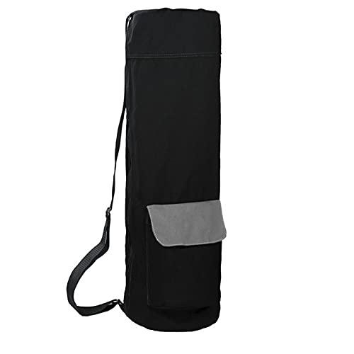 puseky Yogamatten-Tasche für Herren und Damen, mit Reißverschluss, Schultertasche mit verstellbarem Riemen, Seitentasche