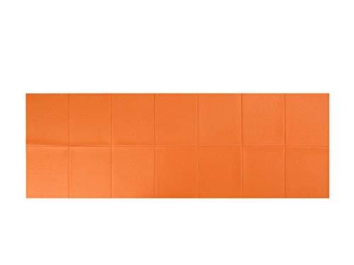 MeiZi PVC Faltbare Yoga-Matte Sports rutschfeste Matte Faltgym Fitness Pad Pilates Supplies Bodenspielmatte (Color : Orange)
