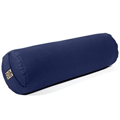 Yamkas Yoga Bolster   Yoga Rolle mit Buchweizenfüllung   Yoga Bolster mit Waschbarer Bezug aus Baumwolle  ...