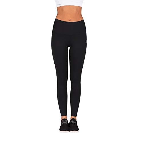 Ultrasport Damen Advanced Sport-Leggings Silhouette Mit Shape-Funktion, Schwarz, L