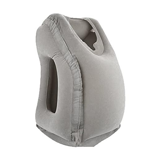 CAIER Aufblasbarer Reiseschlafsack Tragbares Kissen Nackenkissen Für Männer Frauen Outdoor Flugzeug Flug Zug Schlafen Einfach Grau 11.8 * 11.8 * 21.7