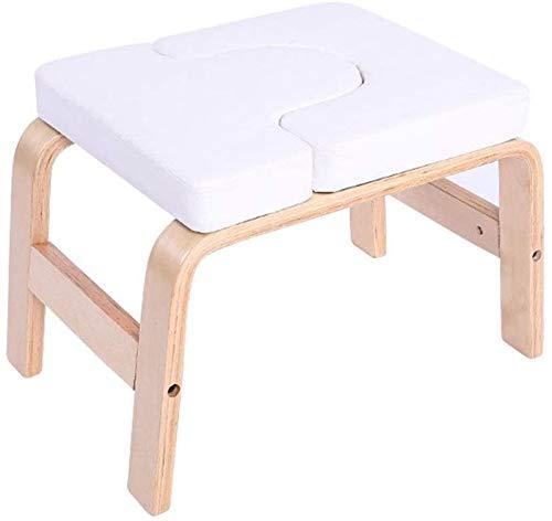 XLNB Yoga Stuhl Für Kopfstand,Kopfstandhocker Yoga Holz,Kopfstandstuhl Yoga-Bench Trainingsstuhl Ergonomische...