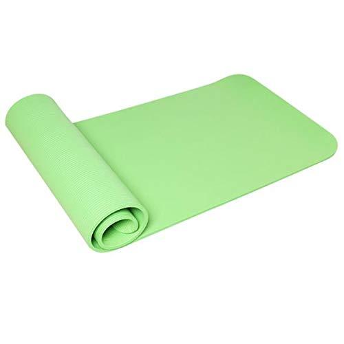 10mm dicke NBR Pure Color Anti-Rutsch Yogamatte 183x61x1cm Grün