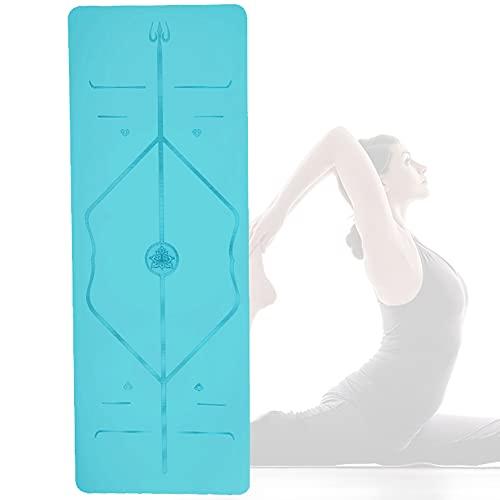 Yogamatte [5mm Dicke] - Hautfreundlich & Schadstoffgeprüft - für Anfänger und Fortgeschrittene - Profi Matte für Yoga, Pilates, Sport und Training Freizeit/Green