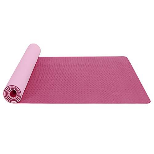 Yogamatte TPE Yoga Matte Gymnastikmatte Sportmatte Fitnessmatte rutschfest Turnmatte für Naturkautschuk Yoga Pilates Fitness mit Yoga Handtuch und Tragetasche 183 x 61 x 0.6 cm