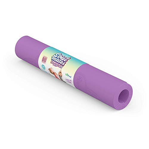 Soul Mates Yogamatte, umweltfreundlich, für Kinder, Unisex, Violett