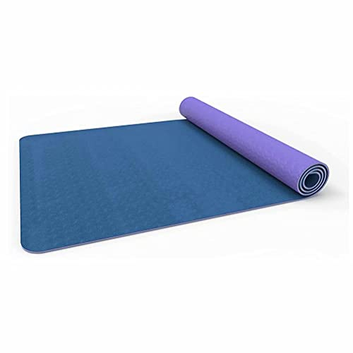 Yogamatte, TPE Sportmatte Umweltfreundlich Geruchlos Fitnessmatte mit Tragegurt & Ausrichtungslinien, Rutschfest Gymnastikmatte für Yoga, Pilates & Gymnastik