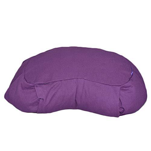 SFGSA Yogakissen Halbmond-Kissen mit Buchweizenschalenfüllung Maschinenwaschbar Sitzkissen für Meditationen,Lila