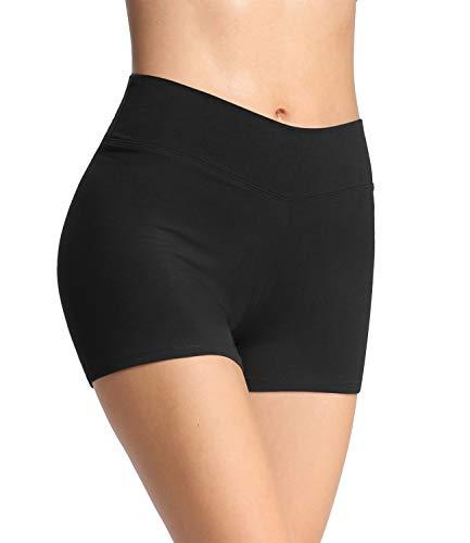 4How Damen Tights Shorts Sport Kurze Hosen Radlerhose Laufshorts Fitness Yoga Tanzen Shorts Sportshorts...