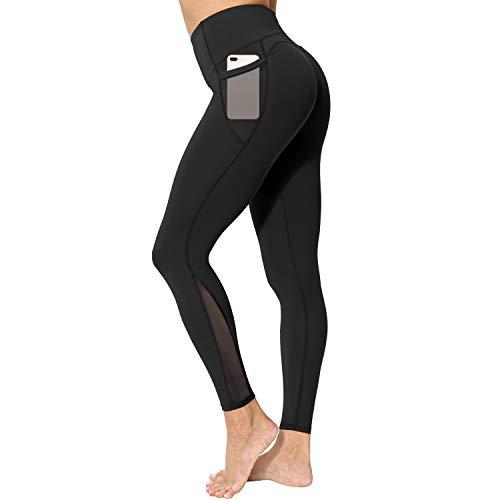 neppein Sport Leggings mit Taschen,Damen High Waist Blickdicht Leggings Sporthose Yogahose Fitnesshose,...
