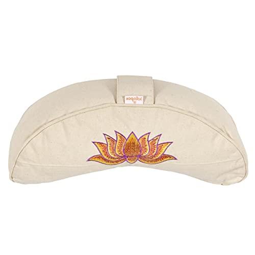 Yogakissen Halbmond Basic Lotus Stick Multicolor, Natur