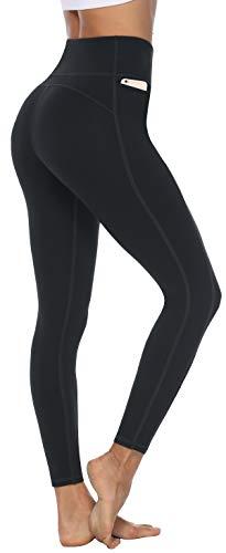 Persit Sport Leggings Damen, Sporthose Yogahose Laufhose Yoga Leggins für Damen Sportleggins Lang Schwarz-Size 36 (Herstellergröße: S)