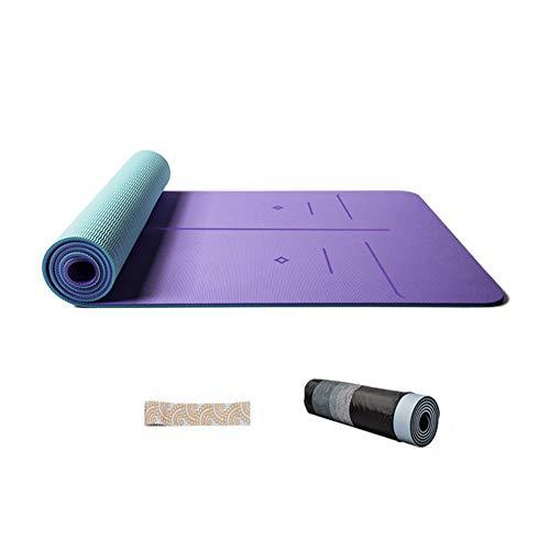 L&Y Rutschfeste Premium Yogamatte - Gymnastikmatte, Fitnessmatte, Trainingsmatte,Umweltfreundlich, Hypoallergen Und Hautfreundlich, Ideal Für Yoga, Pilates&Fitness,Mit Rucksack,183 X 66Cm,A
