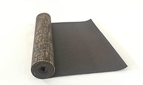 UKKD Yoga Matte Dicke Leinen 5Mm 183 * 61Cm Verlängerte Natürliche Jute Yoga-Matten Geschmacklos