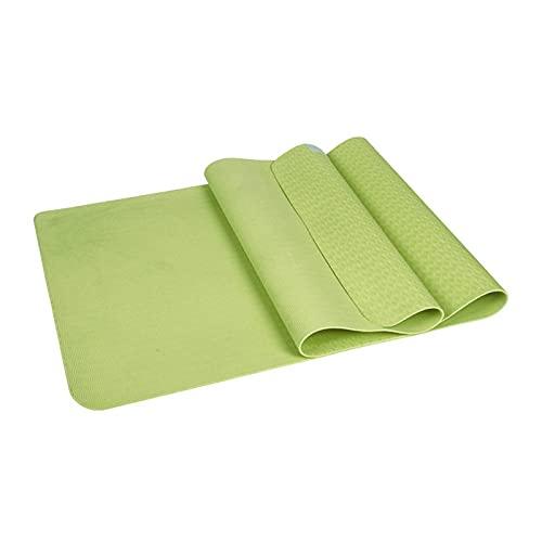 N\C Dicke 3/4/5/6/8 Tco-freundliche und geschmacklose TPE Monochrome Yogamatte für Anfänger Sport Fitness Anti-Rutsch-Matte Meditationsmatte Reisematte Bodenmatte 183 * 61 cm61