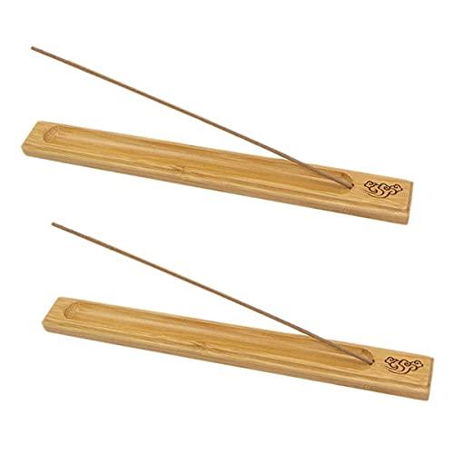 Bambus Räucherstäbchenhalter, 2 Stücke Holz räucherstäbchen halter Für Aschefänger, 9.84 Zoll Lang