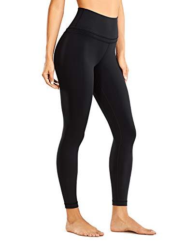 CRZ YOGA Damen Sports Yoga Leggings Sporthose mit Hoher Taille-Nackte Empfindung -63cm Schwarz 38