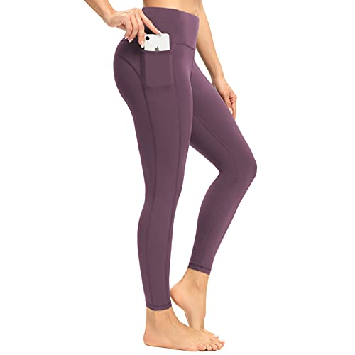 neppein Damen Leggings,Blickdicht Sportleggins Lange Sport Leggings Sporthose Yogahosen mit Taschen