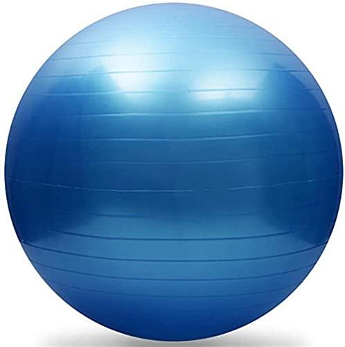 Xiamimi Gymnastic Ball (mehrere Farben 95 cm Durchmesser) Yoga Ball Lieferkugel mit Schnellpumpe Anti-Explosion und extra dick-Blau