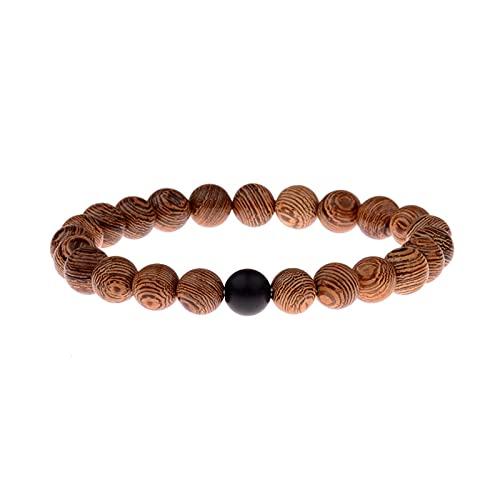 Paare Armband Naturstein weiß und schwarz Yin Yang Perlen Armbänder für Männer Frauen 8mm