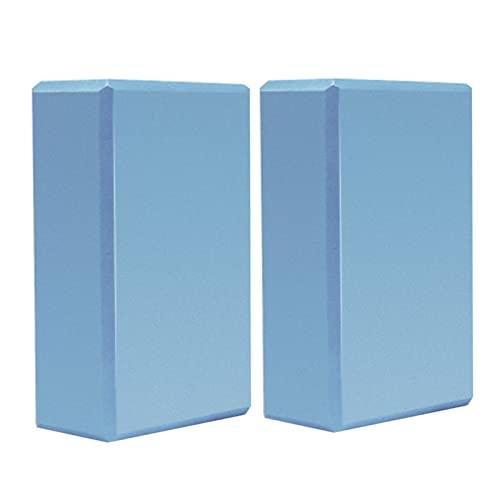 HENHEN RichBao Store 2 stücke Eva Yoga Block Training Übung Fitness Set Werkzeug Yoga Bolster Kissenkissen Dehnung Körperformung Yoga-Blöcke (Color : Sky Blue)