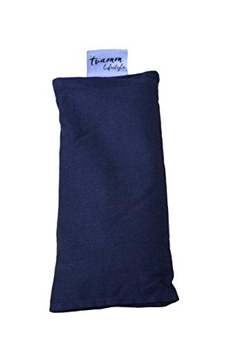 Tvamm-Lifestyle Augenkissen mit Leinsamen/Lavendel Füllung - 100% Baumwolle Stoff, 23 x 11 cm/in wunderschönen Farben erhältlich