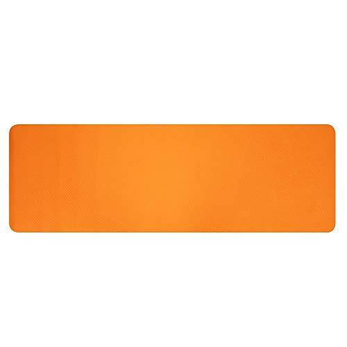 SCAYK 6mm Dicke TPE rutschfeste Yoga Matte/Gymnastik (183x61x0,6 cm) orange yogastudiengymmatten für Haus Fitness matten trainieren Dicke Training Yoga rutschfest