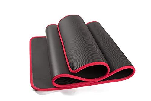 Yoga-Matte 10mm super dick 183cmx61cm Hohe Qualität rutschfest, für Fitness und geruchslose Pilates Fitness Übung Verband Massage Acupressur Kissen Kissen Yoga Matte Gymnastikmatte Gymnastikmatten