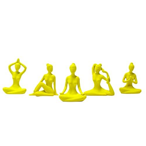 Yoga-Mann-Meditationsset, Ornamente, Mode, Zuhause, Harz, dekorative Ornamente, Yoga-Dekorationen, Geschenke für Frauen, Heimdekoration, kleine Ornamente, Mini-Spielzeug (A)