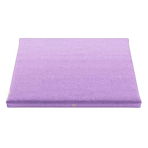 Mindful and Modern Samt Zabuton Meditationsmatte – Luxuriöses Meditationskissen mit 100% Baumwolle Füllung – Genießen Sie bessere Haltung und mehr Komfort für Zafu oder Bank, Dusty Violet