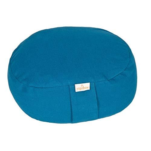 Yogilino® Reise Meditationskissen Mini oval Basic, Petrol