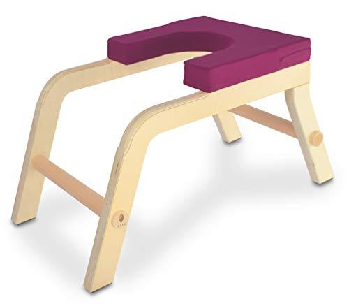 SIYA® Yoga Kopfstandhocker aus Holz - Green Product Award - Ergonomisch, Komfortabel und Nachhaltig - Beere