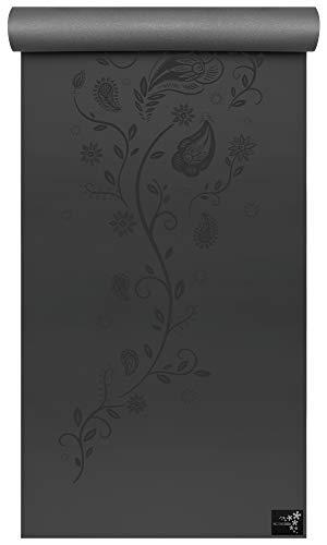 Yogistar Yogamatte ultra grip, Black Indian Flower, One Size