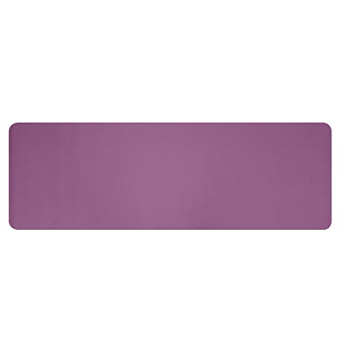 SCAYK 6mm Dicke TPE rutschfeste Yoga Matte/Gymnastik (183x61x6 cm) yogastudiengymmatten für Haus Fitness matten trainieren Dicke Training Yoga rutschfest