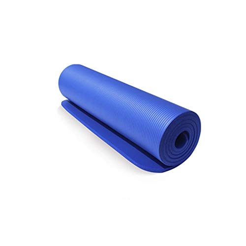 MeiZi 10mm 183 * 61 cm NBR Yoga MAT Pip PIPATES RESTRUCK Dicke Pad Fitness Pilates Matte für Gymnastik Training Fitness Matte Yoga (Color : Blue)