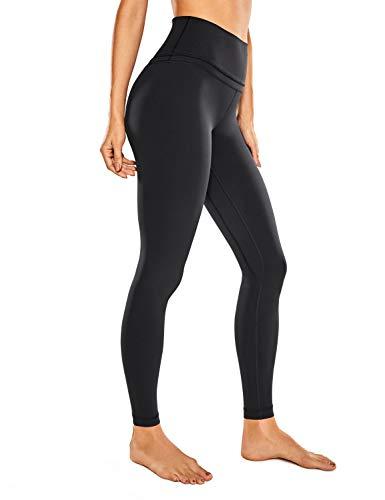 CRZ YOGA Damen Nackte Empfindung Hohe Taille Joggen Yoga Leggings mit Tasche-71cm Schwarz 38