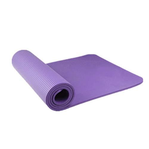 zhppac Fitnessmatte Yoga Mats Yogamatten Fitnessmatten rutschfest Yogamatten für Männer Yoga Mat Dick Eco Yoga Mat Trainingsmatten Yoga Stretch Mat Purple,15mm