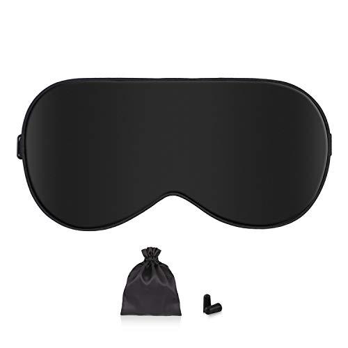 Schlafmaske Damen und Herren, Augenmaske Nachtmaske Seide Schlafbrille Verstellbarem Augenschutz für...