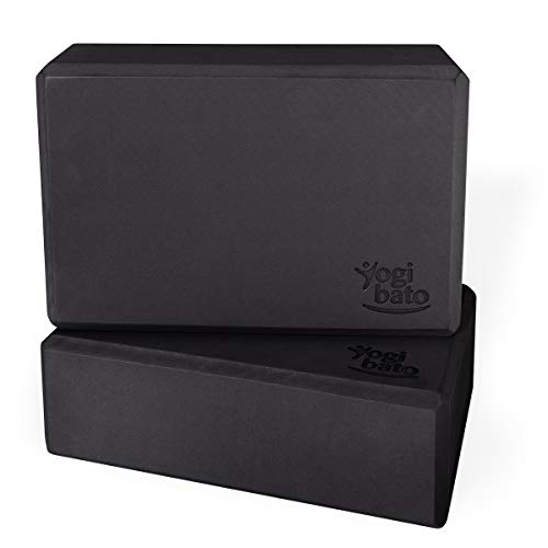 Yogibato Yogablock 2er Set – 2 Blöcke aus EVA Schaumstoff – Yoga Block Doppelpack – Yogaklotz stabil &...