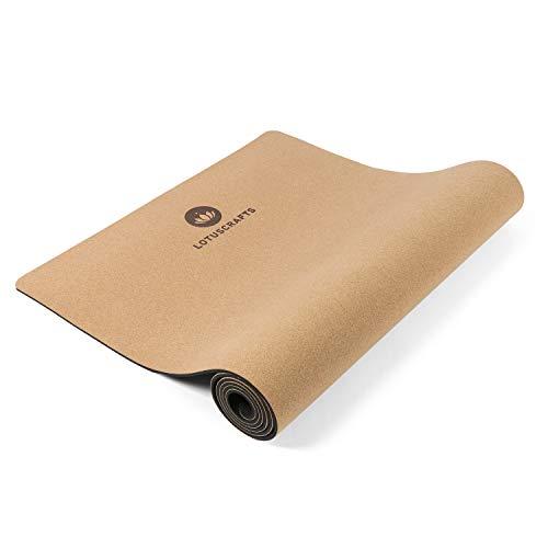 Lotuscrafts Yogamatte Cork - rutschfeste Sweat Proof Oberfläche - 100% Recycelbare Materialien - Yoga Matte aus Kork & TPE ideal für Hot Yoga- Hohe Bodenhaftung & Sehr Leicht [183 x 66 x 0,5 cm]