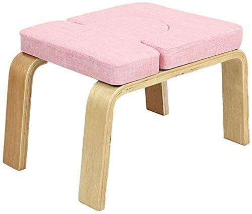 WWJ Kopfstandhocker, Yoga Inversion Stuhl, Ideal für Training, Fitness und Fitness, Stressabbau, Kopfstandbank (Farbe: Pink)