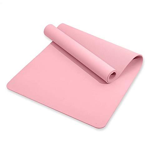 LHY Ultra-Breite Yogamatte, Ungiftige, rutschfeste Umwelt-Fitnessmatte, Fitnessmatte Für Yoga, Pilates Und Übungen, Trainingsmatte, Gute Belastbarkeit,Rosa